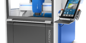 The M8Cube Next high-speed milling machine features brushless, direct drives for faster acceleration and feed rates.