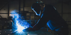 Close up of a man welding, safety, myths, welding machinery