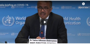 WHO Director General Dr. Tedros Adhanom Ghebreyesus