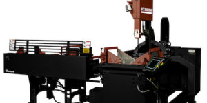 Amada Machinery America's automatic-indexing VT5063SW vertical tilt-frame band saw