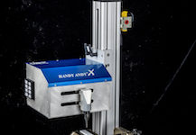 Columbia Marking Tools markets the two-axis programmable Handy Andy X dot peen marking machine and software