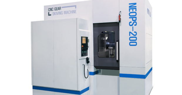 Helios Gear Products YG Tech's compact CNC NEOPS 200 power skiving machine
