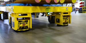 Conceptual Innovations' wheeled material transporter can move 40,000 pounds