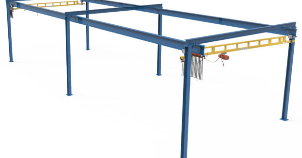 Spanmaster pre-engineered workstation cranes from TC/American Crane Co.