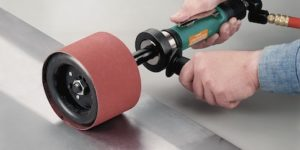 Dynabrade's Dynastraight air-powered abrasive tool