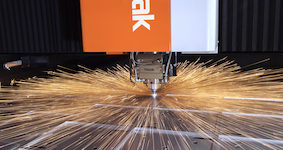 Mazak high power laser cutting