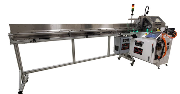 Glebar's TF-9DHD infeed/thrufeed centerless grinder